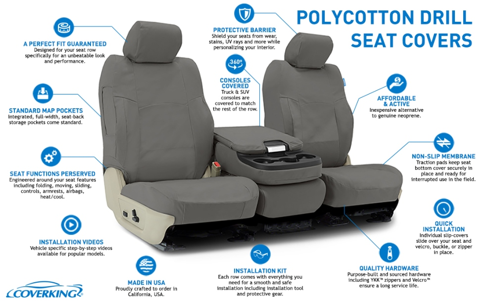 Coverking Poly Cotton Car Seat Covers