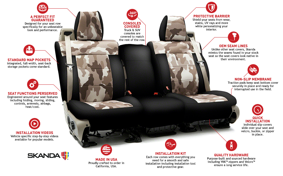 Coverking Neosupreme Camo Traditional Custom Seat Covers